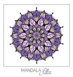 Coloured Mandala Decorative round ornament Element vector image