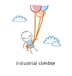 industrial climber vector image