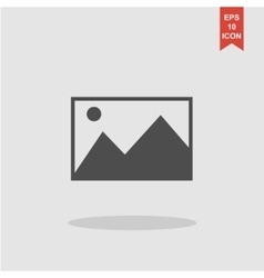 Photo picture web icon in flat style vector image vector image