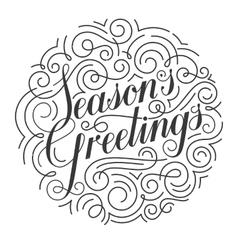 Seasons Greetings Christmas card Original vector image vector image