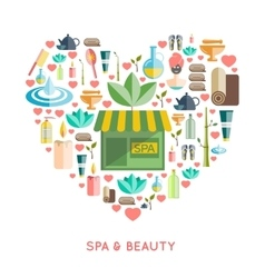 Spa And Beauty Concept vector image
