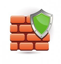 wall and shield vector image vector image