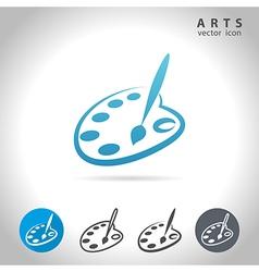 arts blue icon vector image vector image
