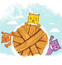 cute cats vector image vector image