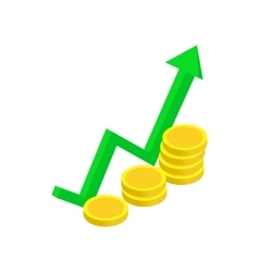 Finance growth icon isometric 3d style vector image vector image
