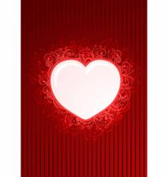 floral red heart frame vector image vector image