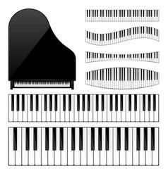 Piano with keyboardkey musical background vector