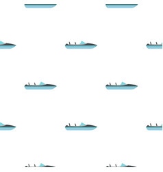 speed boat pattern seamless vector image