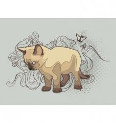 bizarre cat vector image vector image