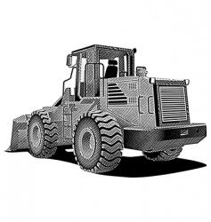 bulldozer engraving vector image