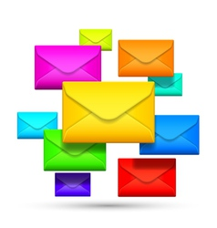 Color envelopes vector image