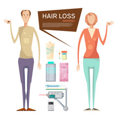hair loss drugs concept vector image vector image