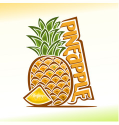 pineapple still life vector image vector image