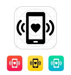 Romantic phone call icon vector image
