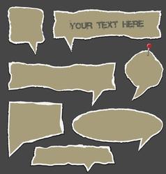 Torn paper speech bubbles vector image