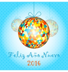 New Year Balls 1 vector image