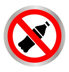 Not to throw plastic bottles sign vector image