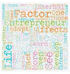 personal development entrepreneur business text vector image