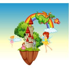 a fantasy land scene vector image