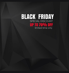 abstract black background for black friday vector image