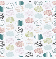 abstract seamless pattern with clouds vector image
