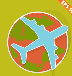 Airplane travel - - EPS10 vector image
