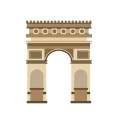 arch of triumph landmark icon vector image