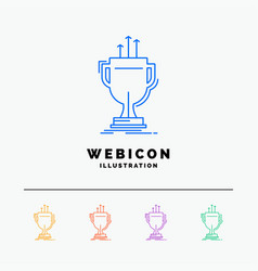 award competitive cup edge prize 5 color line web vector image