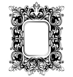 Baroque mirror sophisticated frame french vector