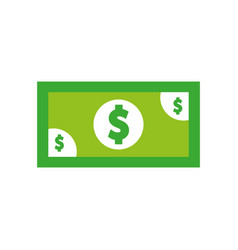 bills dollar isolated icon vector image