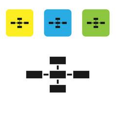 Black business hierarchy organogram chart vector