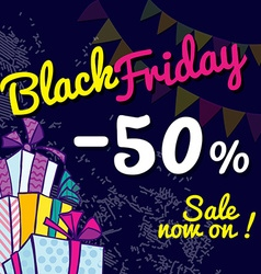 Black Friday Banner with the sale vector