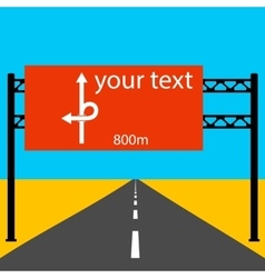 Blank road sign on the road vector image