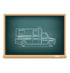 Board ambulance vector