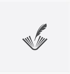 book write icon vector image