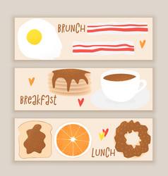 breakfast concept brunch vector image
