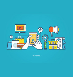 Business marketing research tool for study vector