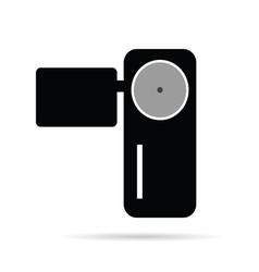 camera in black vector image