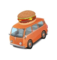 Car burger fast food vector