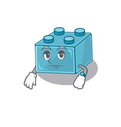 Cartoon character design lego brick toys vector