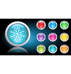 christmas web button vector image