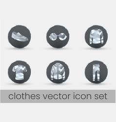 clothes icon set dark vector image
