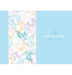 Colorful pastel branches horizontal card seamless vector image
