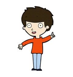 comic cartoon boy with idea vector image