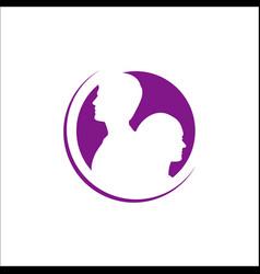 Couple in love logo design sign happy couples icon vector