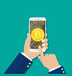 cryptocurrencies or bitcoin concept vector image
