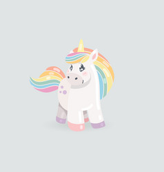 Cute unicorn baby vector