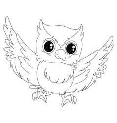 Doodle animal for little owl vector