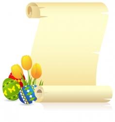 Easter manuscript vector