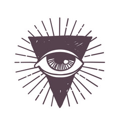 Esoteric eye rune symbol vector
